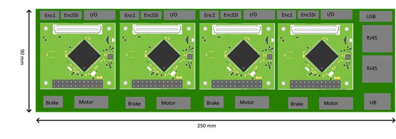 New product preview | 1 drag 4 stepper / servo motor drive board, to be sold in advance